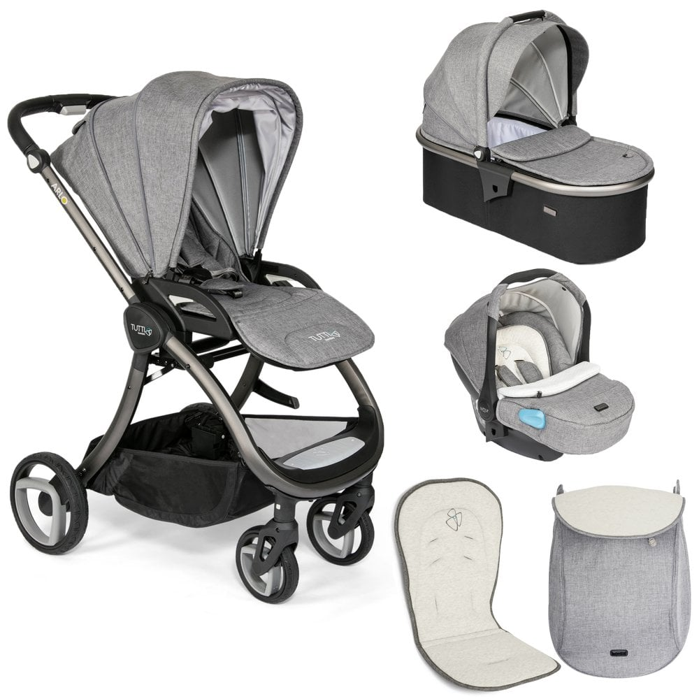 new product 0c4b9 d446c Tutti Bambini Arlo Travel System - Charcoal Chassis - Charcoal