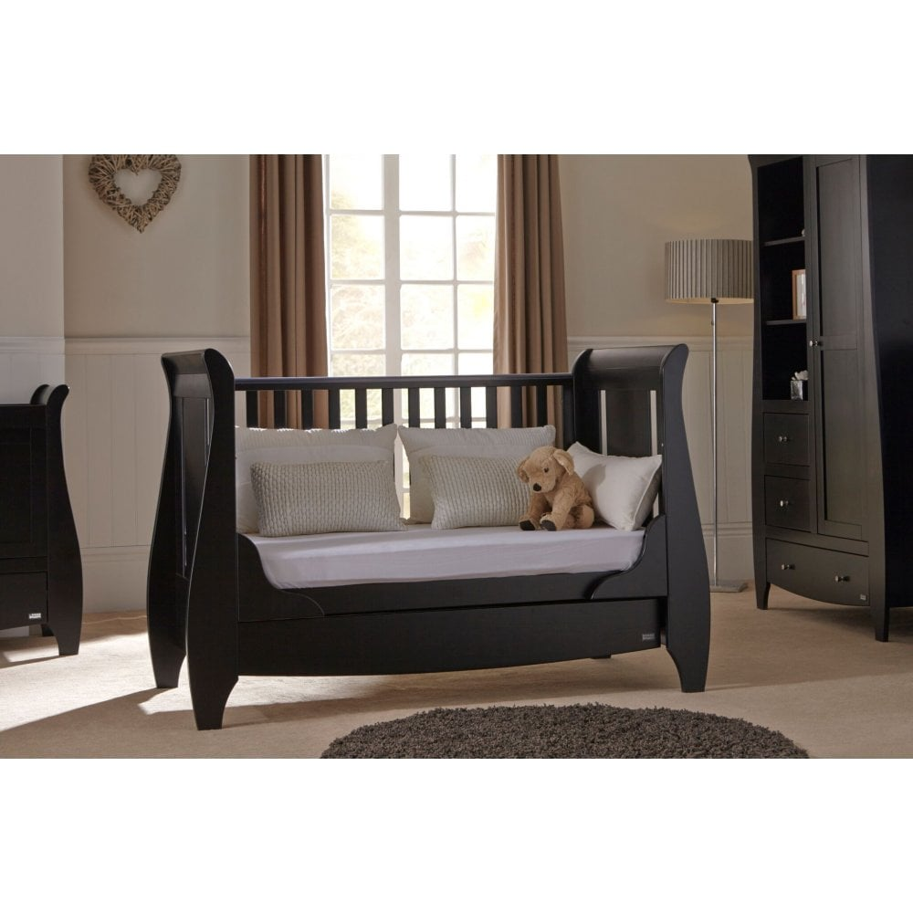 half off eedd9 857c9 Tutti Bambini Lucas Sleigh 3 in 1 Cot Bed with Under Bed Drawer - Espresso