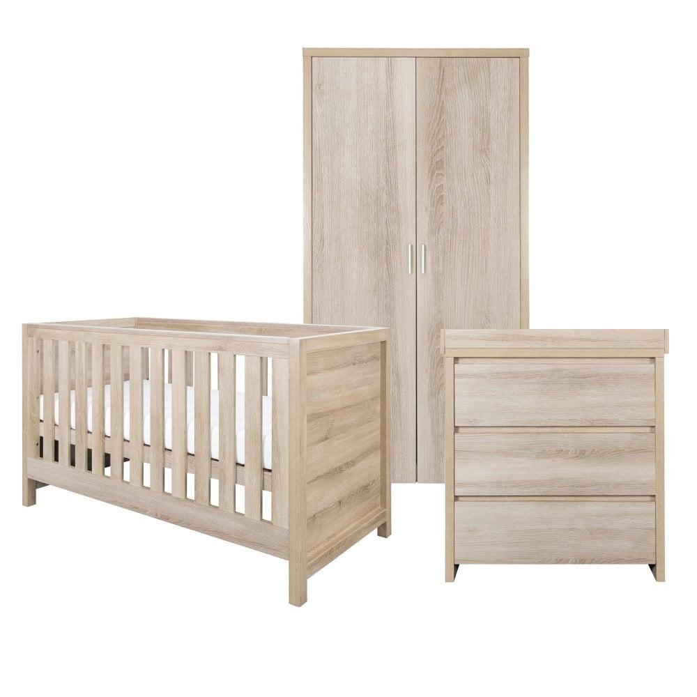new style f762b 3f175 Tutti Bambini Modena 3 Piece Room Set - Oak