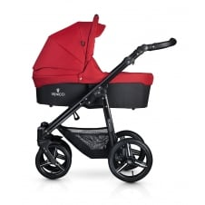 Soft Travel System - Black Chassis / Denim Red