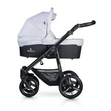 Soft Travel System - Black Chassis / Light Grey