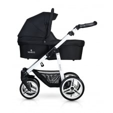 Soft Travel System - White Chassis / Black